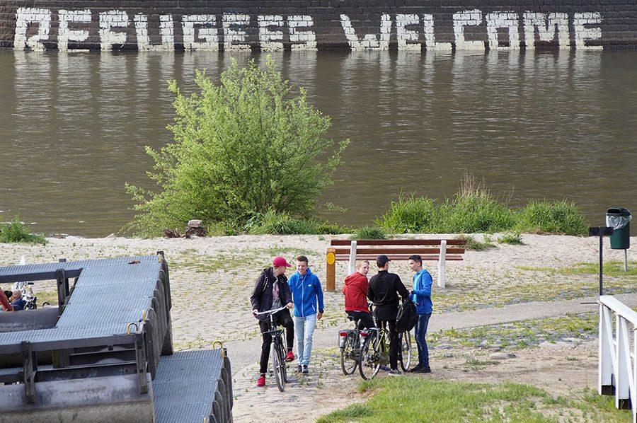 Nijmegen Waalkade | Nijmegen Refugees Welcome | Foto © Henk Beenen